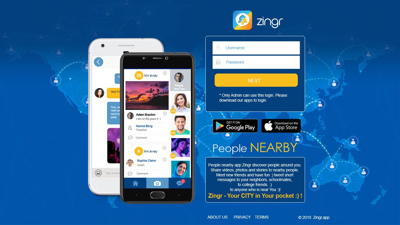 People nearby app Zingr
