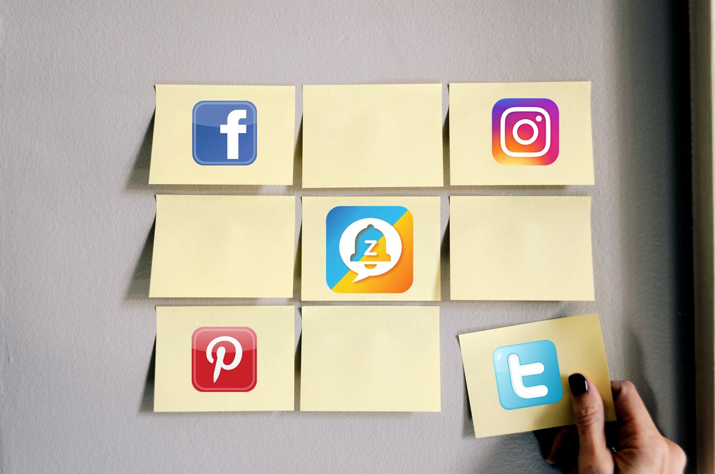 social app. Facebook.Zingr.Twitter
