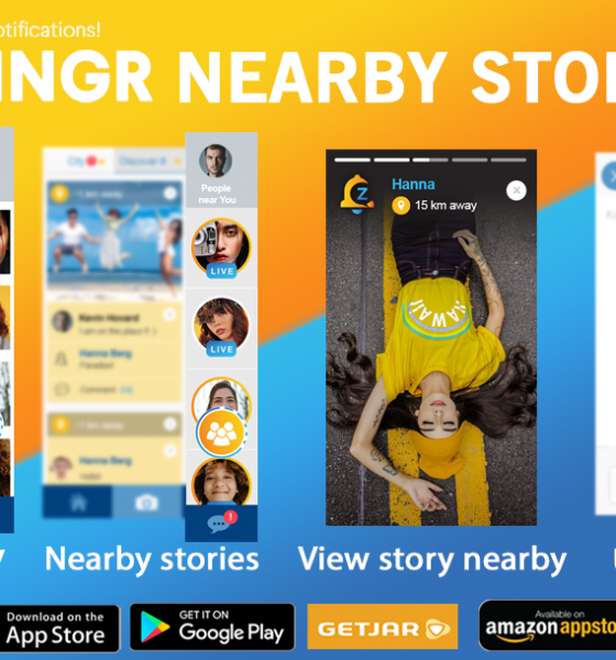 ZINGR stories nearby alternative to Snapchat or Instagram